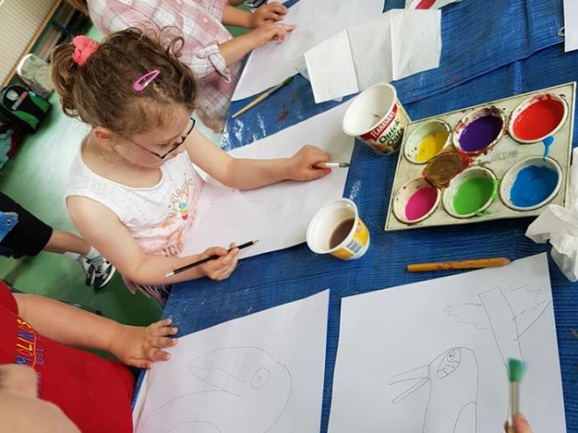 summer camp, art, kids art, children art project, kids painting, rainforest, art for kids, kids activities, afterschool,