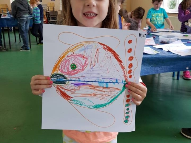 art project, summer camp, fish, cross fish, Halloween art, funny art, art class, art camp, fish for kids