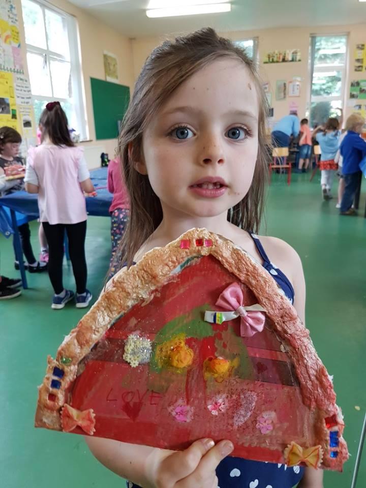 fairy door, paper mache fairy door, fairy, art project for children, art for kids, fairy door to make, art class, summer camp, fairy door painting