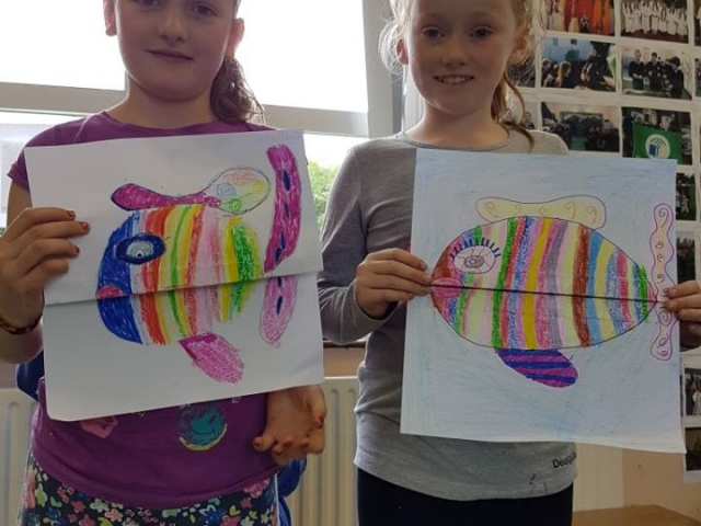 art project, summer camp, fish, cross fish, Halloween art, funny art, art class, art camp, fish for kids, underwater