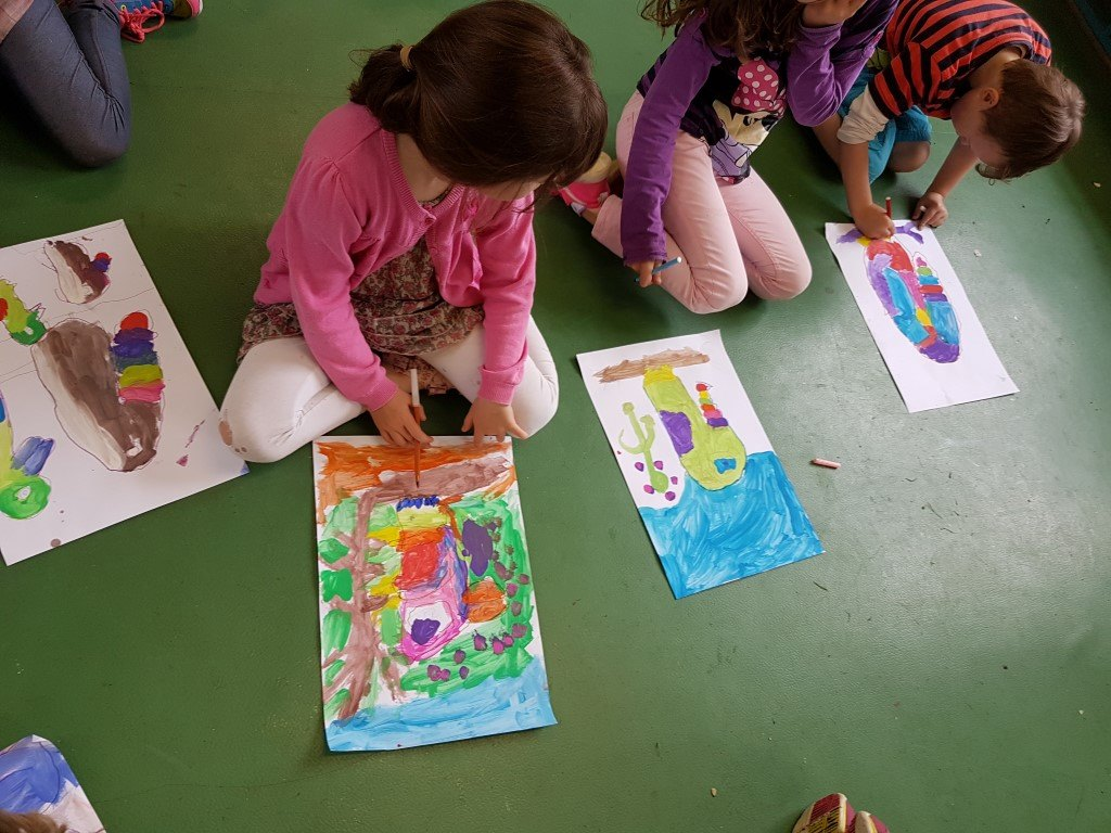 art project, after school, art for children, art class, summer camps,  rainforest, parrot painting, parrot