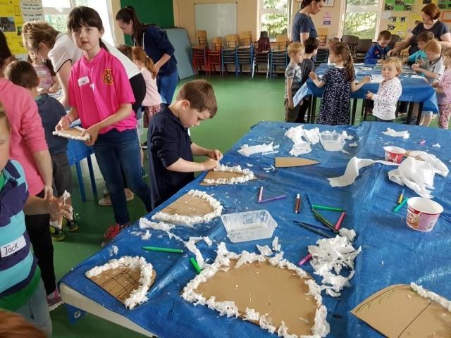 fairy door, paper mache fairy door, fairy, art project for children, art for kids, fairy door to make, art class, summer camp