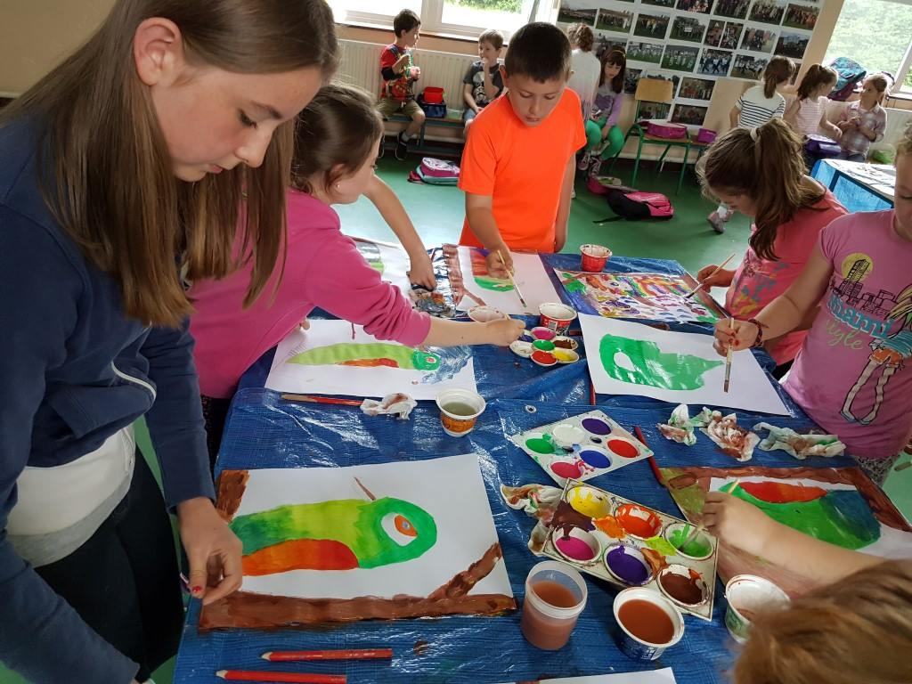 art project, kids activities, art for kids, kids painting, art classes, summer camps, art camps, rainforest art project
