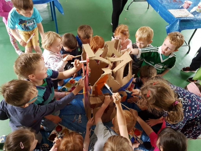 art for kids, summer camp, art classes, happy kids, art activities, 3D butterfly, fairy, fairy door, fairy tree, fairy garden, crazy art, team work