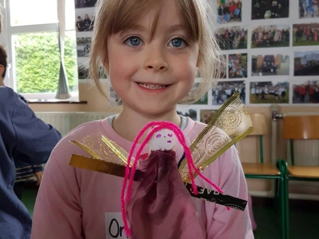 fairy,fairy door, fairy art project for children, art for kids,how to make fairy, art class, summer camp, fabric fairy
