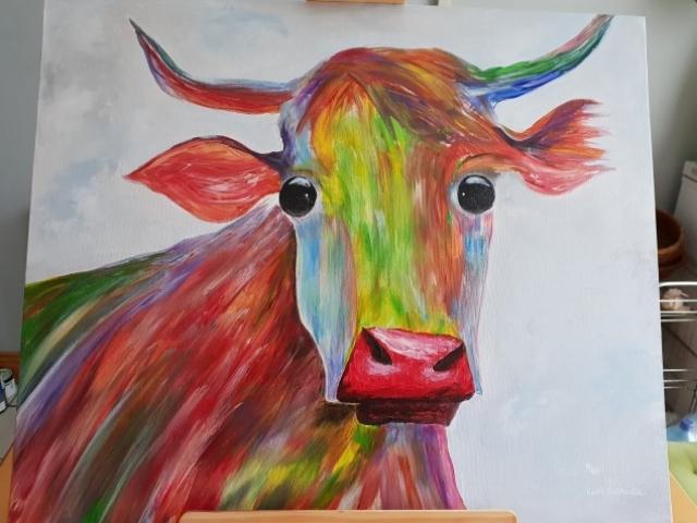 #cow #colorfulcow #crazycow #paintedcow