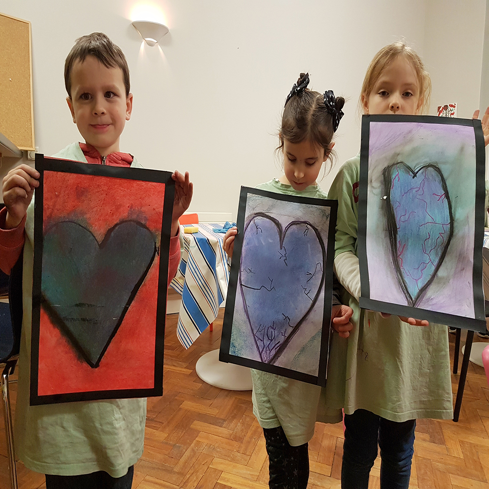 Jim Dine inspiration; Heart