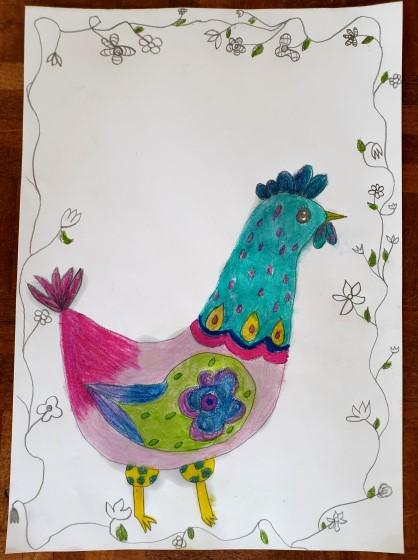 #Easter #Eastercraft # Easterhen #folkhen #folkart #folk #hen