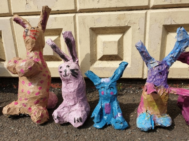#Easterbunny #Easter craft # Eastermeadow  #rabbit #Easterrabbit #rabbitpapermache #paper-mache