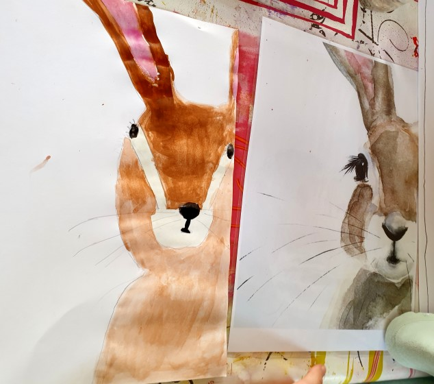 #Easterbunny #Eastercraft   #rabbit #Easterrabbit #rabbit   #rabbit  #furfurpainting #waterpaint