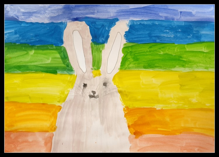 #Easterbunny #Eastercraft   #rabbit #Easterrabbit #rabbit   #rabbit  #furfurpainting #rainbowrabbit